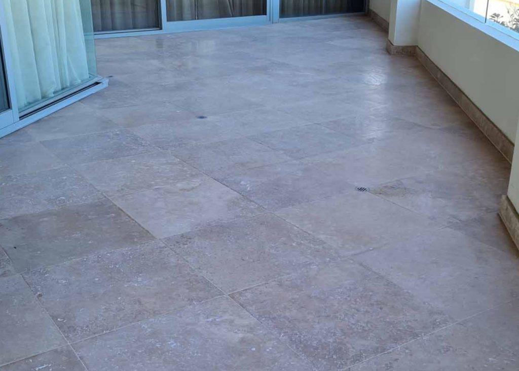 oude marmeren vloer opknappen